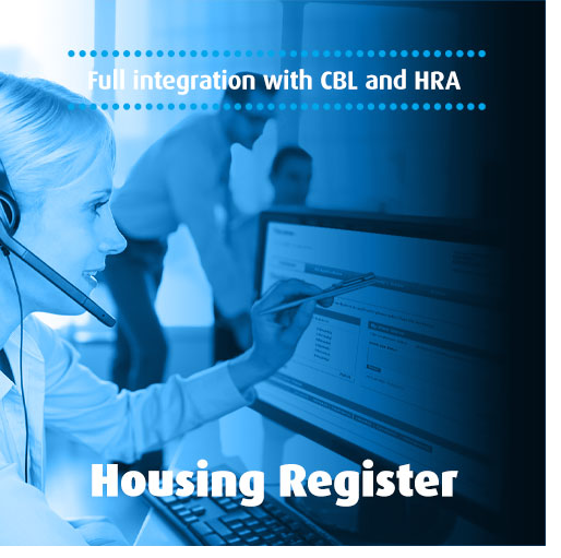 woman using housing register
